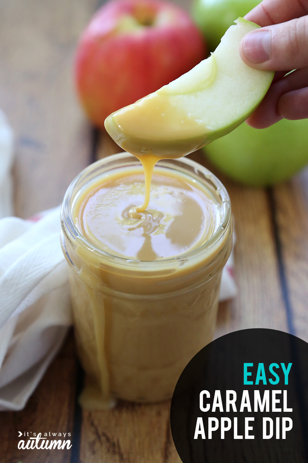 Learn how to make amazing caramel apple dip with just one ingredient!