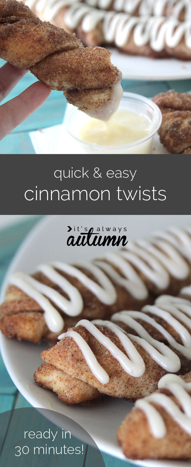super easy cinnamon twists are ready in just 30 minutes! great recipe