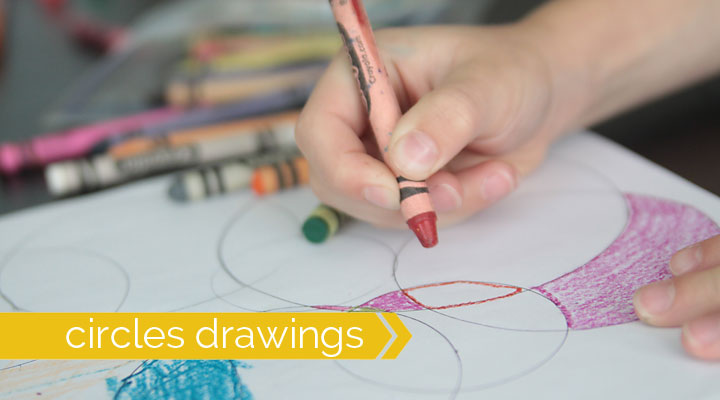 circle drawings are fun for kids to color, and an easy activity to keep them busy!