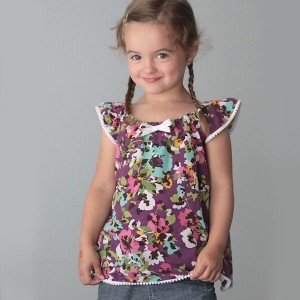 girl's flutter sleeve dress or top sewing tutorial & free pattern in 4T