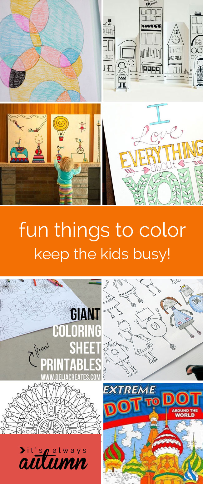 20 fun things to draw and color for kids