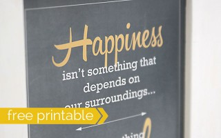 quote by Corrie Ten Boom on happiness - free printable