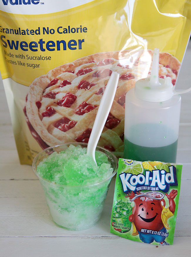 Make shaved ice syrup