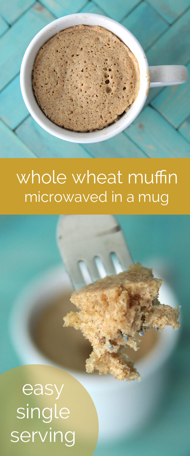 how to make a single serving whole wheat muffin in the microwave - fast, easy & healthy recipe!