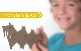 how to make fun monster jaws from cereal boxes - easy kids craft activity