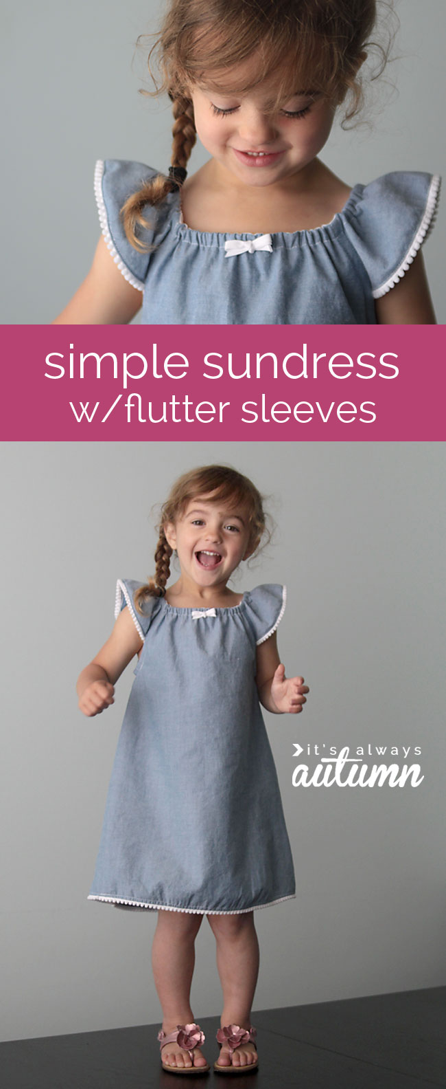 how to make a cute sundress with flutter sleeves sewing tutorial