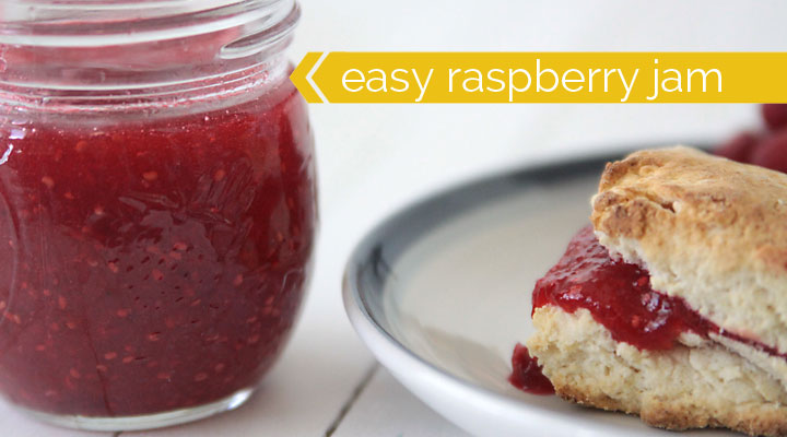 learn how to make easy homemade raspberry freezer jam