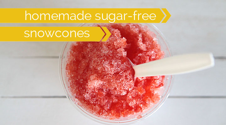 how to make easy sugar free snow cones at home   it s