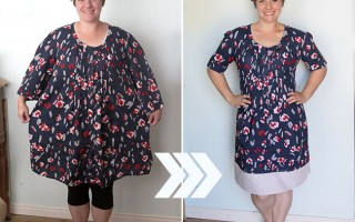 thrifted-dress-refashion-sew-take-in-sides-easy