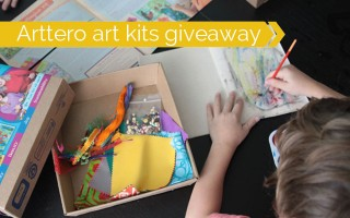 encouraging kids' creativity with art kits & a giveaway