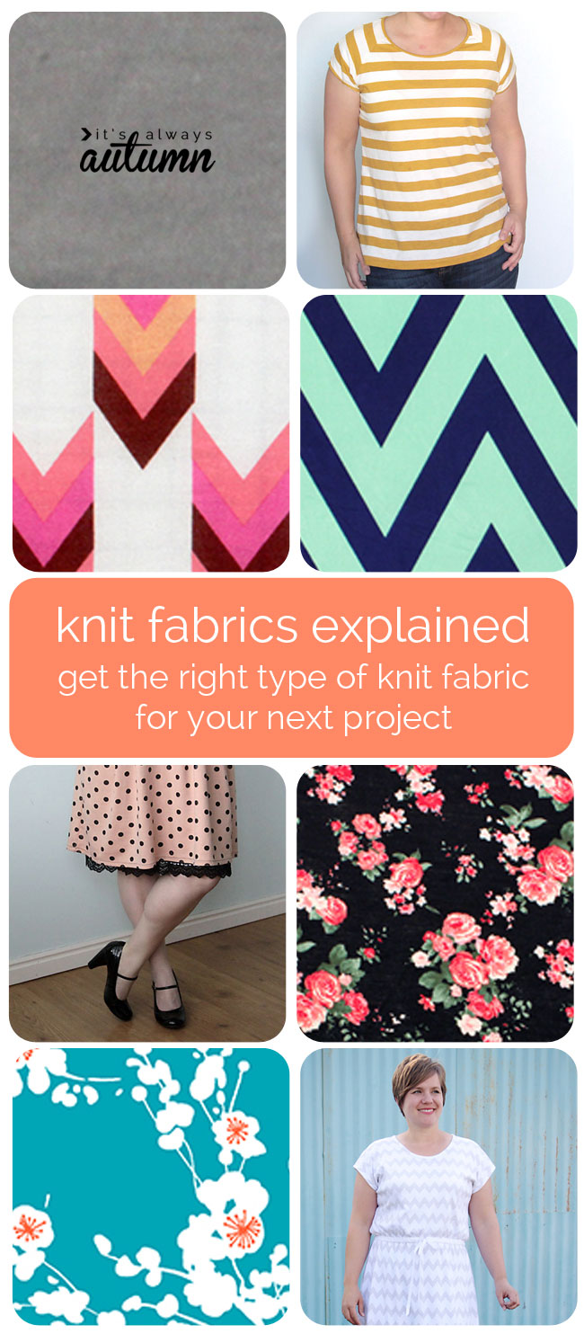 different types of knit fabric EXPLAINED + a fabric giveaway