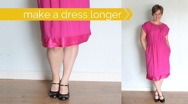 make a dress longer using the lining | sewing tutorial - It\'s ...
