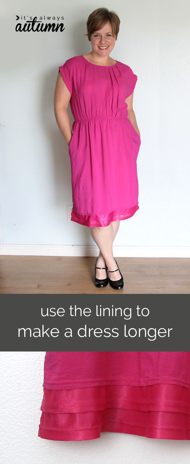 how to make a dress longer - sewing tutorial