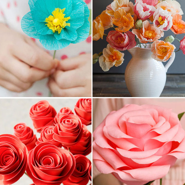 20 diy paper flower tutorials how to make paper flowers mightylinksfo