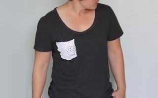 men's tee to doily pocket shirt
