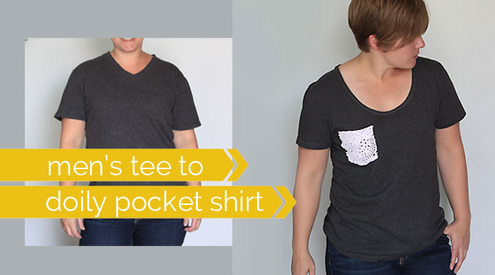 men's tee to doily pocket shirt