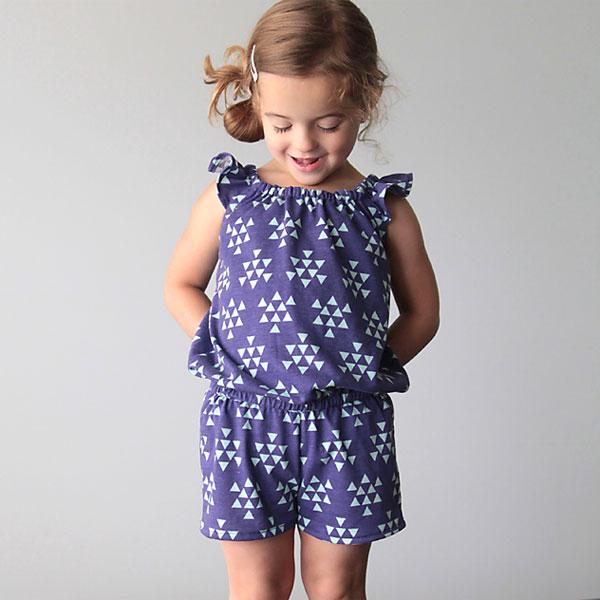 Free Pattern For Girls Flutter Sleeve Romper Amp Sewing Tutorial
