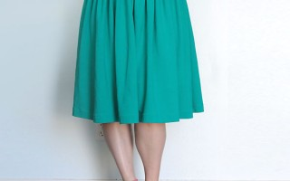 gathered-skirt