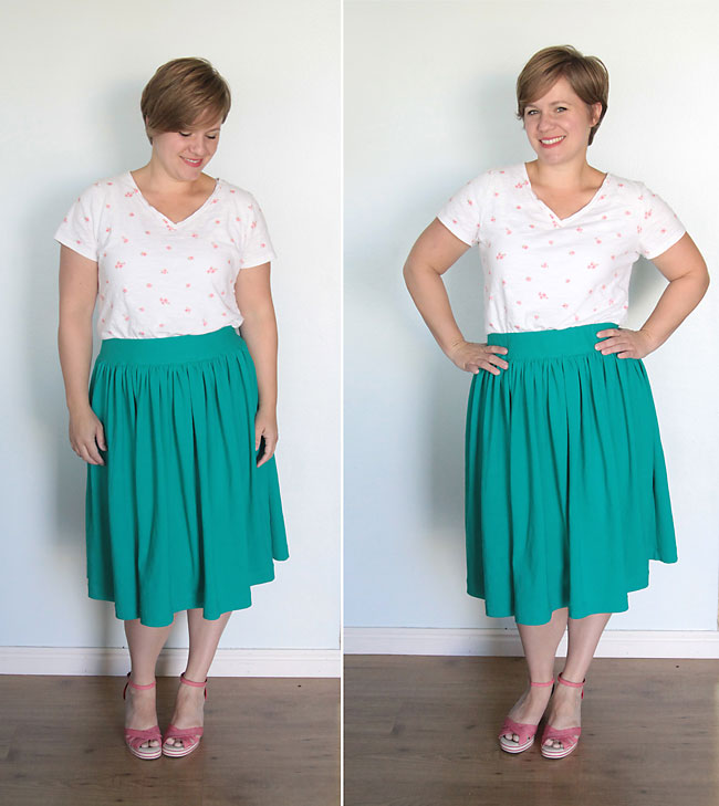easy sewing tutorial for a flattering women's full gathered skirt