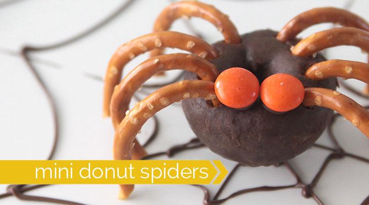 donut-pretzel-spiders-halloween-easy-treat-kids
