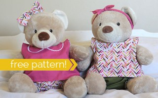 love this! free sewing pattern for these easy teddy bear clothes (build a bear)