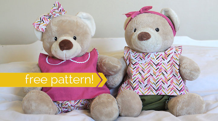 Free Pattern For Easy To Sew Teddy Bear Clothes Build A Bear