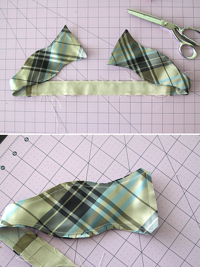 Make A Bow Tie From An Old Necktie Great Boy Gift It S