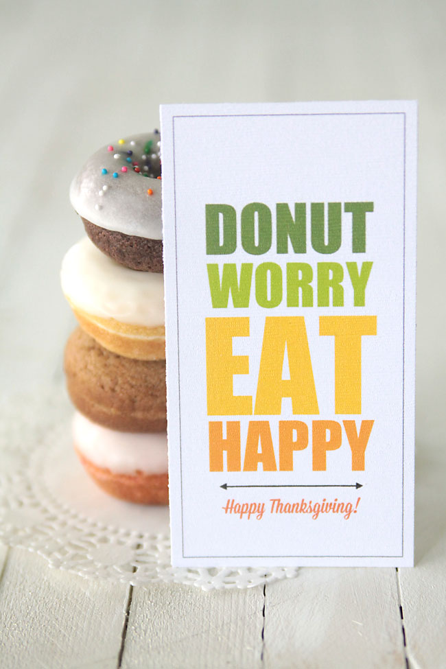 cute free printable gift tags for donuts - great gift for birthday, thanksgiving, or christmas!