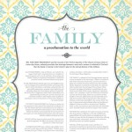 """The Family: A Proclamation to the World"" free LDS printable"