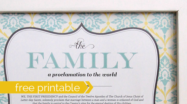 image regarding Family Proclamation Printable identify The Household: A Proclamation toward the Environment\