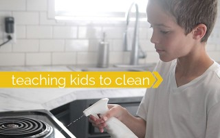 great tips and tricks for teaching kids how to clean