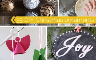 35 gorgeous DIY Christmas ornaments to make this season - easy, beautiful, and modern