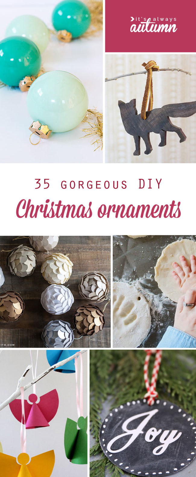 Handmade christmas tree ornaments ideas - 35 Gorgeous Diy Christmas Ornaments To Make This Season Easy Beautiful And Modern