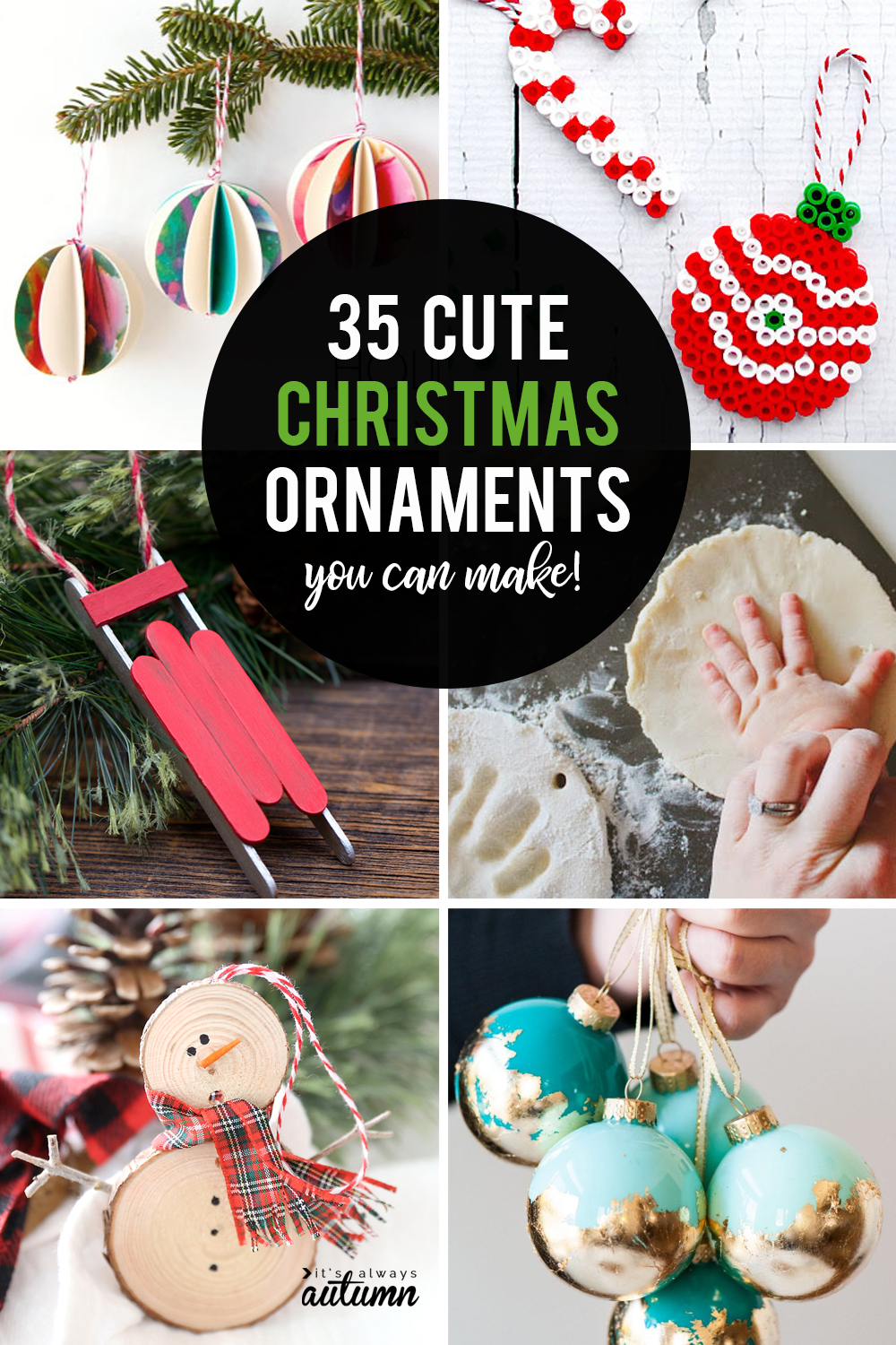 35 gorgeous homemade Christmas ornaments you can make at home!