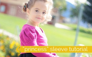 """easy sewing tutorial shows you how to add a puffed """"princess"""" sleeve to any pattern"""