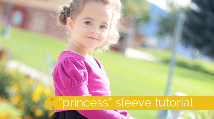 "how to add puffed ""princess"" sleeves to any sewing pattern"