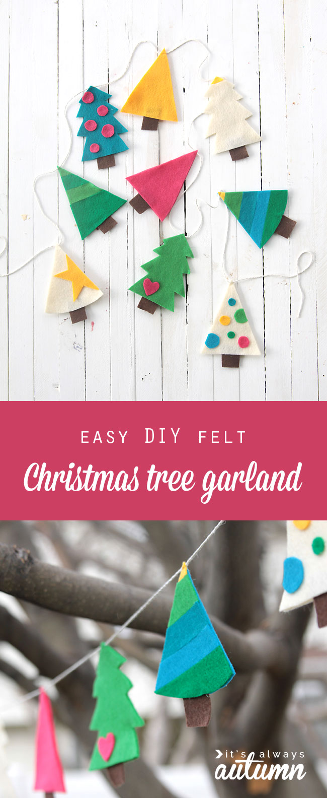 Felt Christmas Tree Garland Easy