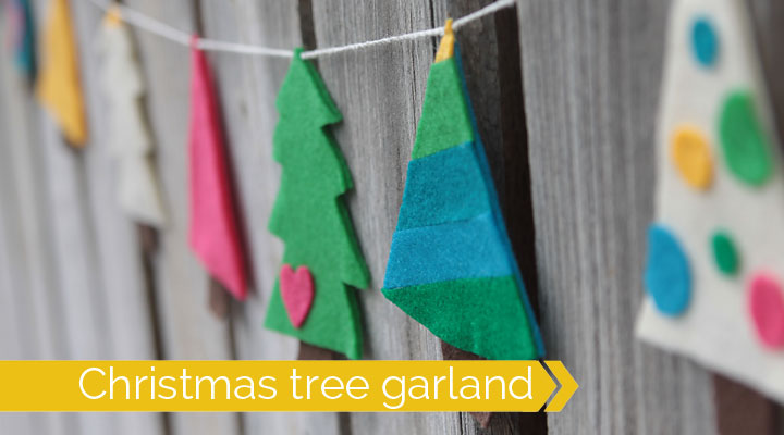 cozy felt Christmas tree garland & $100 Jo-Anns card giveaway