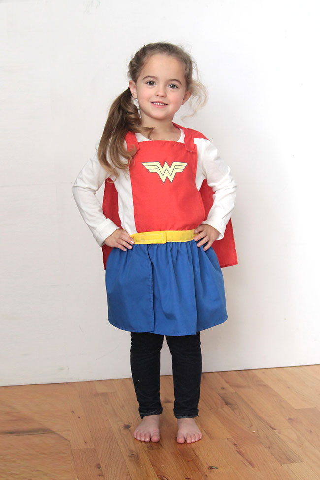 superhero cape & skirt free sewing pattern for girls