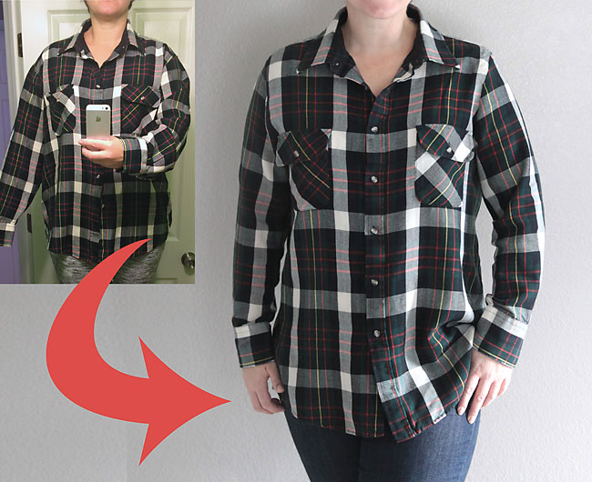 How to take in a shirt the right way {make a shirt smaller}