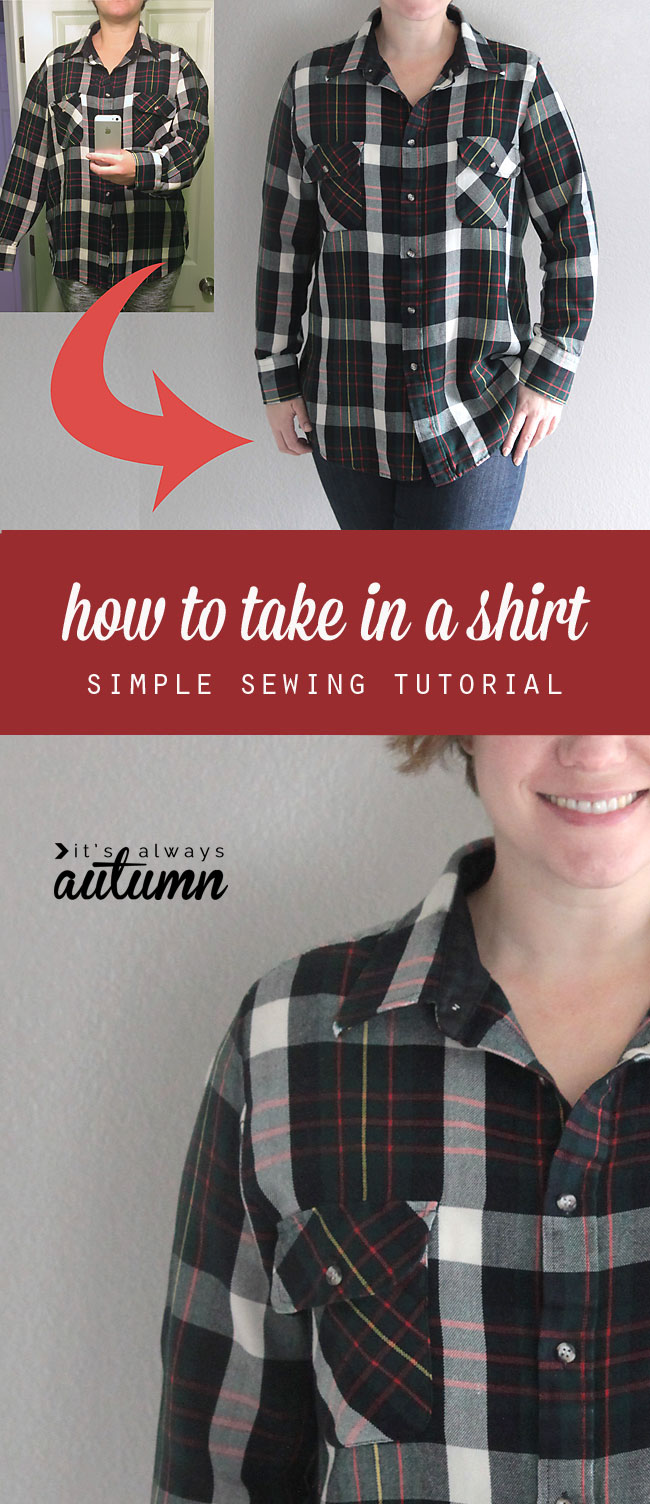 How to take in a shirt the right way how to make a shirt smaller great tutorial shows you how to take in a shirt the right way learn how jeuxipadfo Image collections