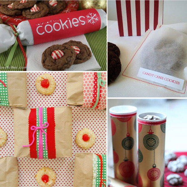 collage of cookie and treat packaging ideas