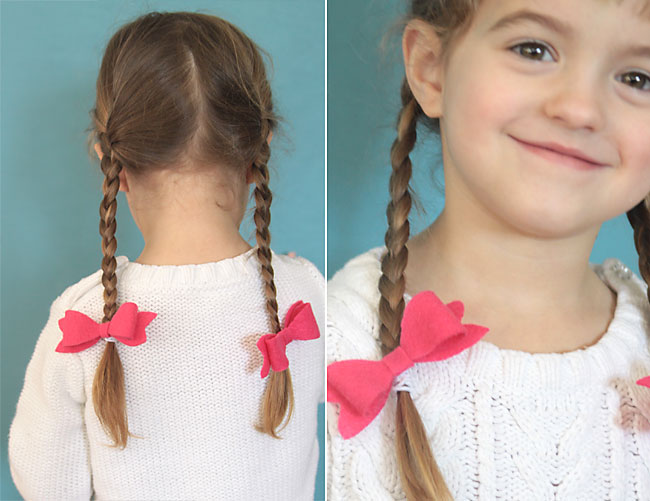 easy DIY hair bow elastics - my daughter would love these! great gift idea, too.