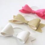 easy DIY hair bow elastics {great gift!}
