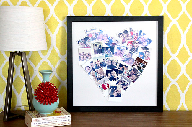 Diy Heart Shaped Photo Collage For Instagram Polaroid Photos