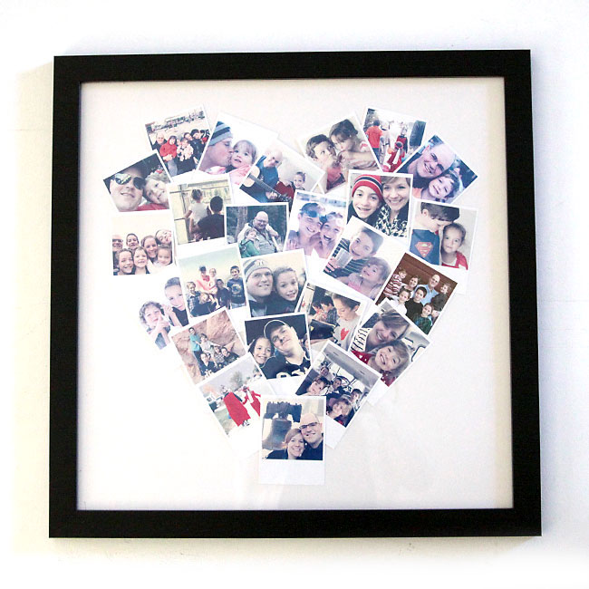 DIY heart photo display {perfect for instagram photos!}
