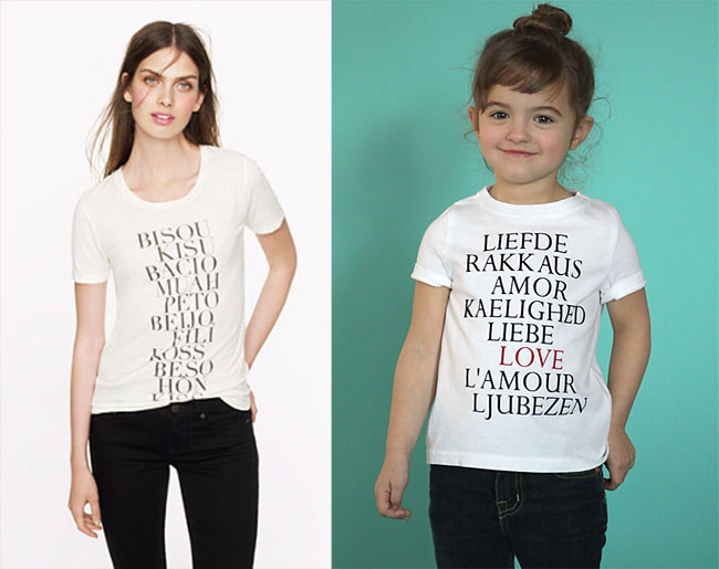 "cute! easy j.crew knockoff graphic tee ""LOVE"" shirt. perfect for Valentine's day!"