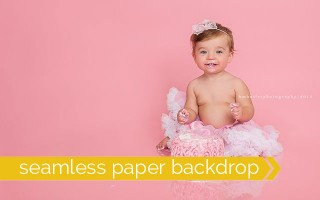 cool! post shows how to get a professional looking photo with seamless paper background