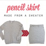 easy cable knit pencil skirt {made from a sweater}