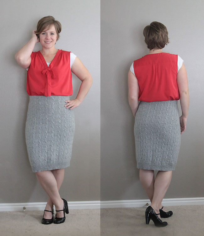 make a pencil skirt from a thrifted sweater - super easy sewing tutorial!